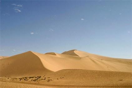 シルクロードの砂漠