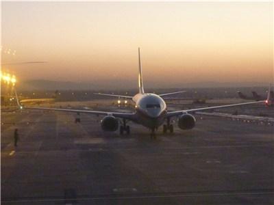 ウルムチ空港を出発