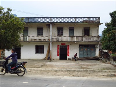 農村の家の様子
